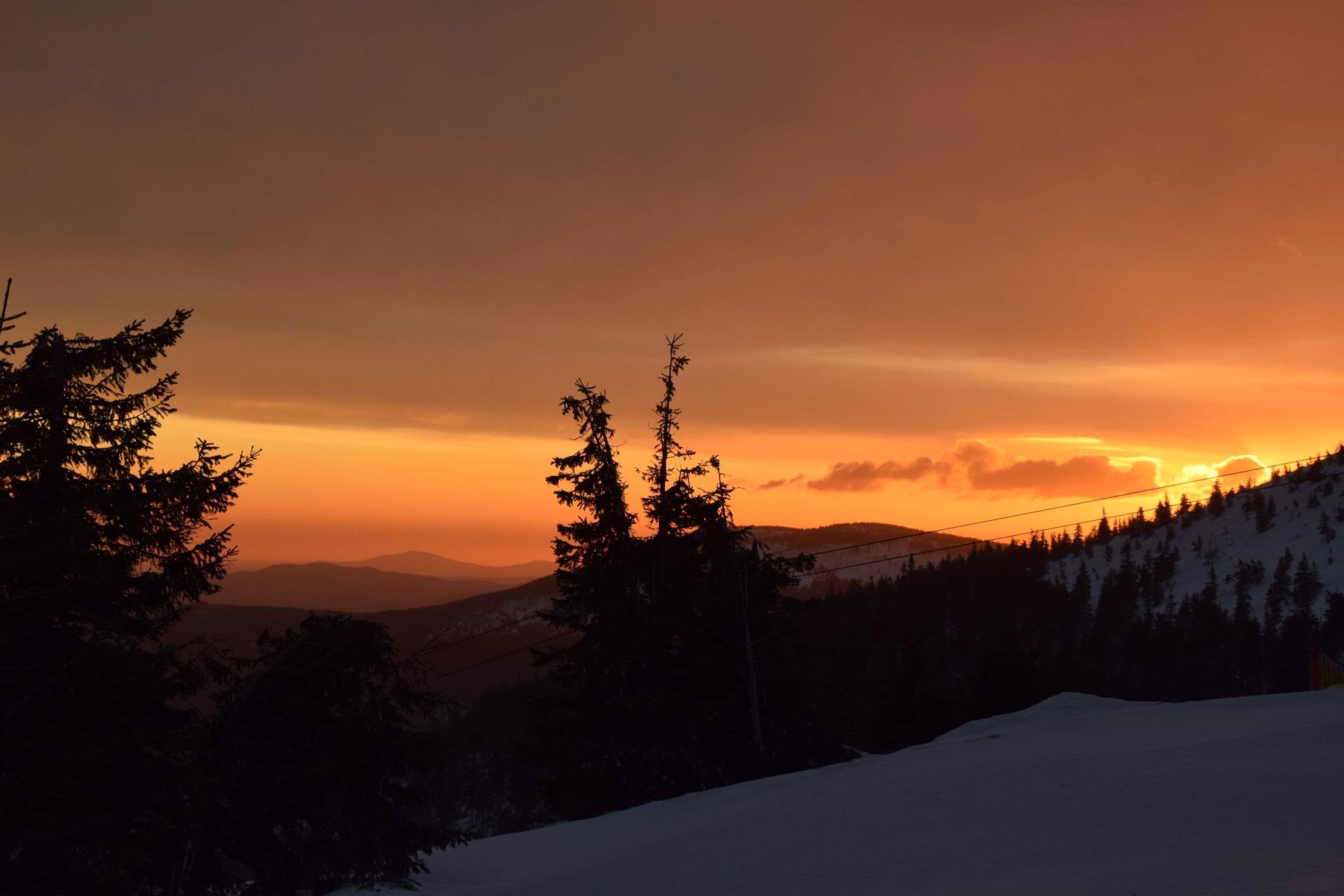 wschód słońca karkonosze